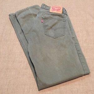 Levi's Olive Green 505 Men's Jeans size 30x32
